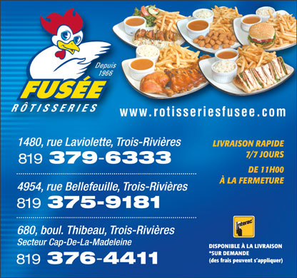 R&ocirc;tisserie Fus&eacute;e (819-376-4411) - Annonce illustr&eacute;e