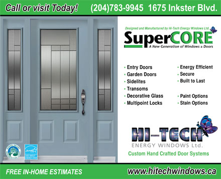 Hi-Tech Energy Windows Ltd (204-783-9945) - Annonce illustrée
