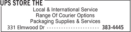 The UPS Store (506-383-4445) - Annonce illustrée - Local & International Service Range Of Courier Options Packaging Supplies & Services
