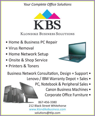 Klondike Business Solutions (867-456-3380) - Annonce illustrée