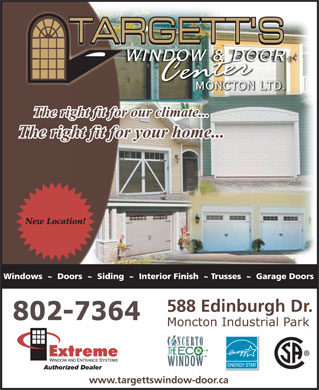 Targett's Window & Door Center (506-802-7648) - Display Ad - 802-7364