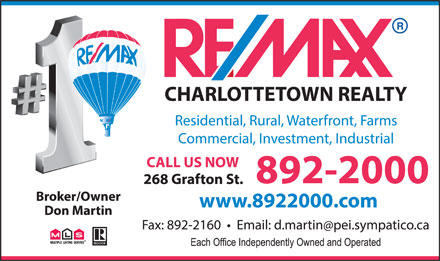RE/MAX Charlottetown Realty (902-892-2000) - Display Ad