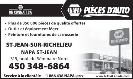 NAPA Auto Parts (450-348-6864) - Display Ad
