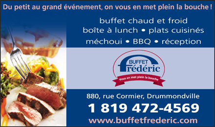 Buffet Frédéric Enr (819-472-4569) - Display Ad