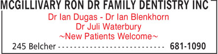 McGillivary Ron Dr Family Dentistry Inc (902-681-1090) - Annonce illustrée - Dr Juli Waterbury ~New Patients Welcome~ Dr Ian Dugas - Dr Ian Blenkhorn Dr Juli Waterbury ~New Patients Welcome~ Dr Ian Dugas - Dr Ian Blenkhorn