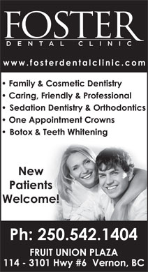Foster Dental Clinic (250-542-1404) - Display Ad