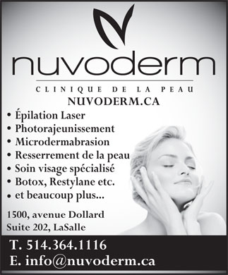 Nuvoderm (514-364-1116) - Display Ad
