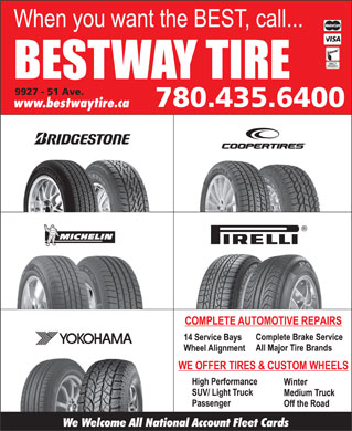 Bestway Tire Ltd (780-613-0210) - Display Ad