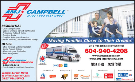 AMJ Campbell Van Lines (604-940-4208) - Display Ad