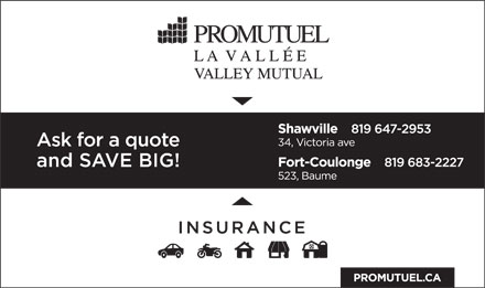 Promutuel La Vallee Valley Mutual (819-647-2953) - Display Ad