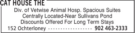 Vetwise Animal Hospital (902-463-2333) - Annonce illustrée - Div. of Vetwise Animal Hosp. Spacious Suites Centrally Located-Near Sullivans Pond Discounts Offered For Long Term Stays