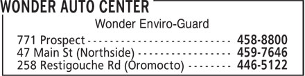 Wonder Auto & Tire (506-458-8800) - Display Ad - Wonder Enviro-Guard