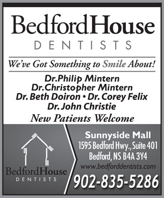 Bedford House Dentists (902-703-3915) - Annonce illustrée - New Patients Welcome