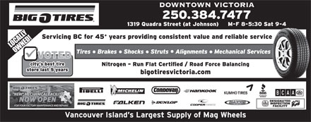 Big O Tires and Service Centres (250-384-7477) - Annonce illustrée
