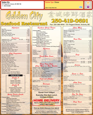 Golden City Restaurant (250-419-0577) - Display Ad