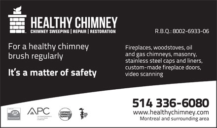 Healthy Chimney (514-336-6080) - Annonce illustrée