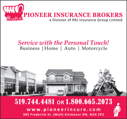 Pioneer Insurance (519-744-4481) - Display Ad