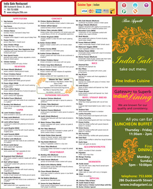 India Gate Restaurant (709-753-6006) - Display Ad